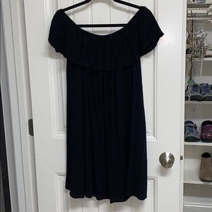 Black Mossimo off the shoulder ruffle dress